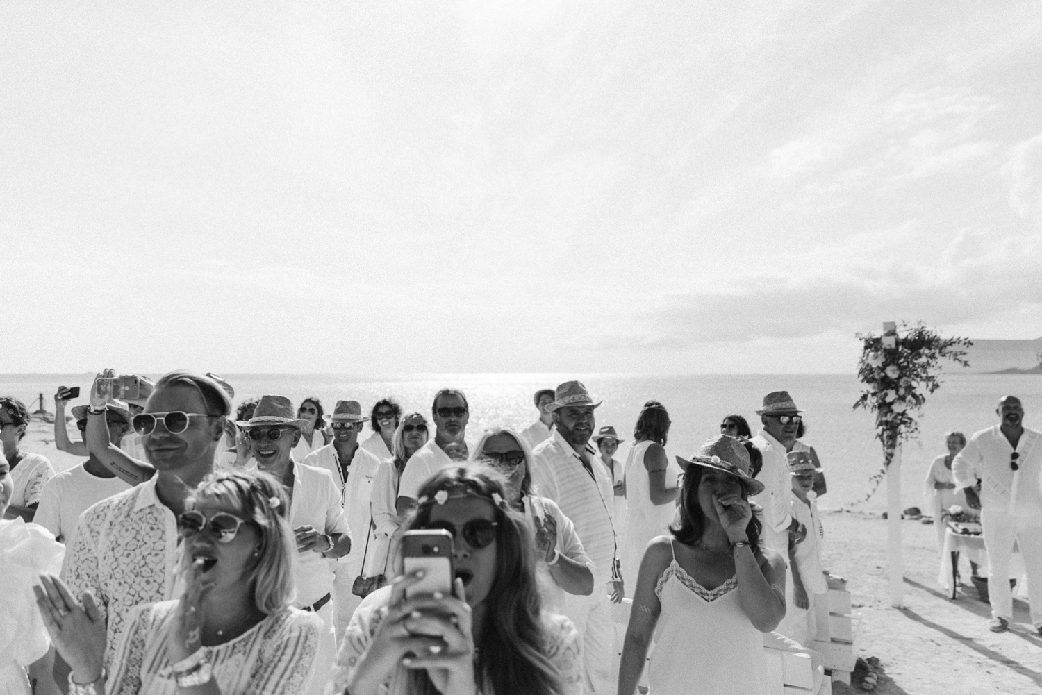 white wedding beach Ibiza Del mao photography
